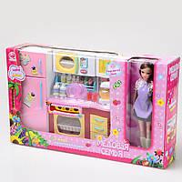 Игровой набор кухня  со светом и звуком с куклой (Медовая семья) ID184