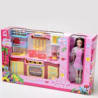 Игровой набор кухня  с куклой со светом и звуком (Медовая семья) ID182