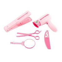 Детский игровой набор для парикмахера с ножницами и утюжком для волос IE325