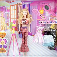 Игровой набор кукла с одеждой и фотокамерой ID29