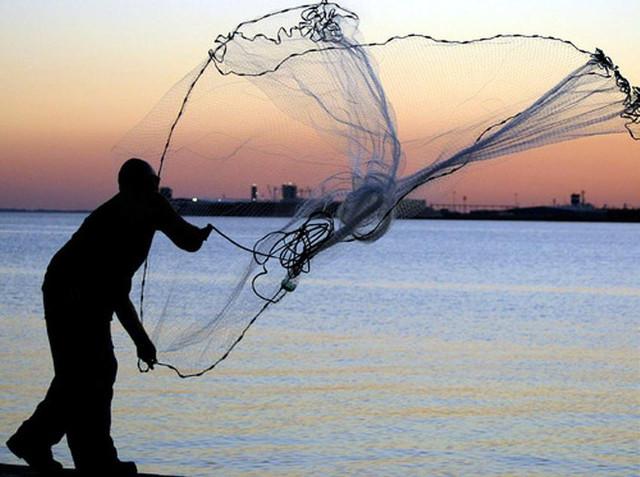 ловля парашютной сетью