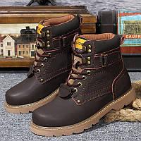 Мужские кожаные зимние ботинки  размеры: 35-48