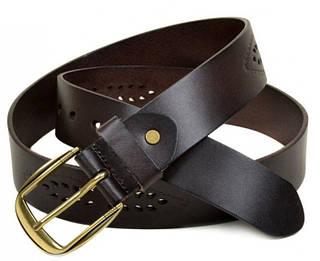 Классический женский кожаный ремень H-25-3 brown коричневый ДхШ: 125х4 см.
