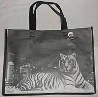 Эко сумка  хозяйственная с замочком (спанбонд)