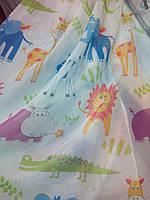 Вуаль печать (  тюль в детскую комнату ) зверушки