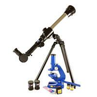 Набор детский - телескоп и микроскоп 2 в 1. Улучшенная модель. Увеличение - Микроскоп 450 Х, Телескоп 40 Х