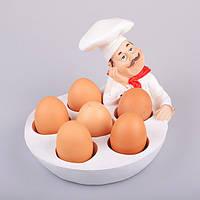 "Блюдо для яиц 6 шт., 22х18х14 см. ""Задумчивый повар"" полистоун"