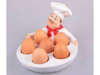 """Блюдо для яиц 6 шт., 22х18х14 см. """"Повар"""" полистоун"""