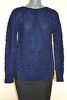 Кофта женская вязаная синяя