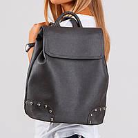 Рюкзак черный графит городской для девочки