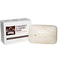 Мыло для лица и тела Nubian Heritage Coconut & Papaya Кокос и Папайя, 141г