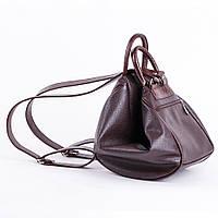 Темно-коричневая сумка-рюкзак трансформер шоколадный