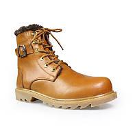 Мужские кожаные зимние ботинки большие размеры (35-52)