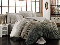 Набор постельного белья сатин печатный 200х220 Cotton box SAFIYE BEJ