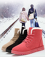 Замшевые ботинки с мехом внутри