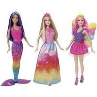 Набор из 3 кукол- русалки, феи и принцессы Barbie серии Миксуй