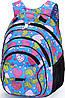 Удобный школьный рюкзак для девочки Dolly (Долли) 583 синий