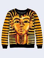 Світшот жіночий 3D Єгипет золотий/Свитшот ФАРАОН
