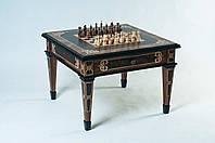 Шахматный стол  ВИКИНГ черный