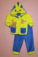 Теплый костюм с отстегивающимся капюшоном для ребенка «Банни»