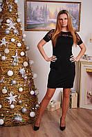 Платье женское с коротким рукавом черное , фото 1