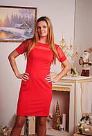 Платье женское с коротким рукавом коралл, фото 1
