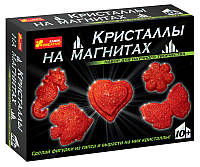Ранок Креатив Наука Кристаллы на магнитах 0385 Красные 12126002Р Набор для научного творчества