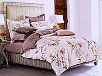 Набор постельного белья 200х220 Valtery сатин C-188 кремовый с цветами