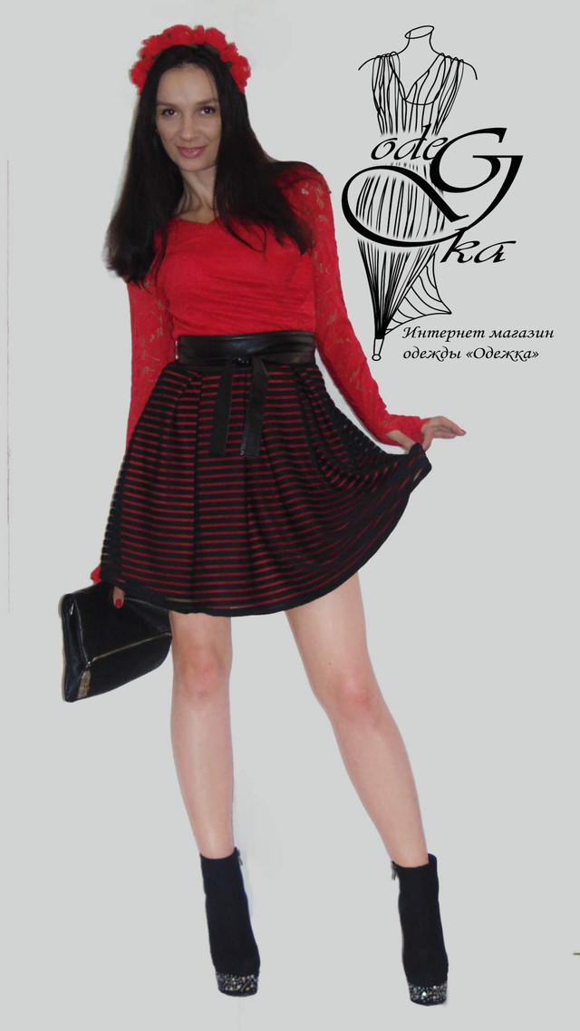 Фото Оригинальных платьев из жаккардового трикотажа с длинным рукавом Джульетта PlDg2804