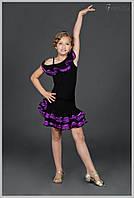 Юбка тренировочная для бальных танцев «Африканка с гипюром»