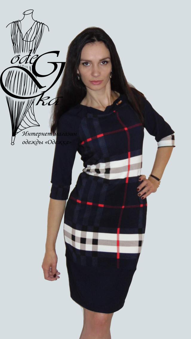 Фото Платьев для полных женщин Лианна01 с рукавом 3/4 трикотажное