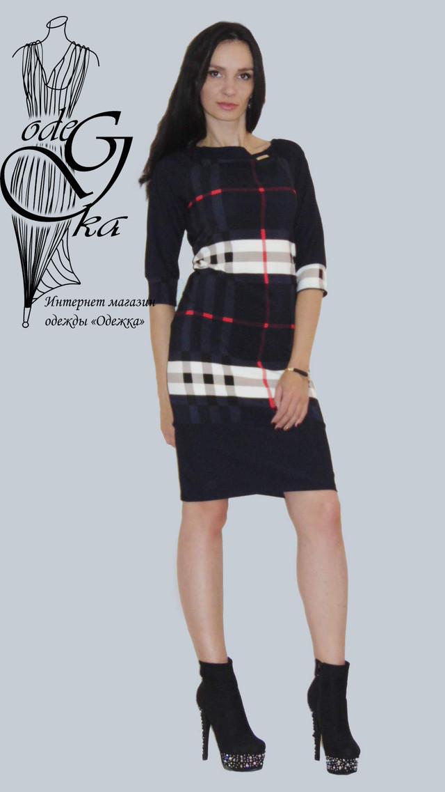 Фото-3 Платьев для полных женщин Лианна01 с рукавом 3/4 трикотажное