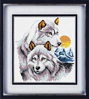 """Набор для рисования камнями (холст) """"Волки"""" LasKo"""