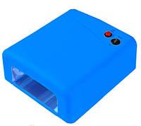 УФ лампа для сушки геля, гель-лака на 36 Вт, голубая