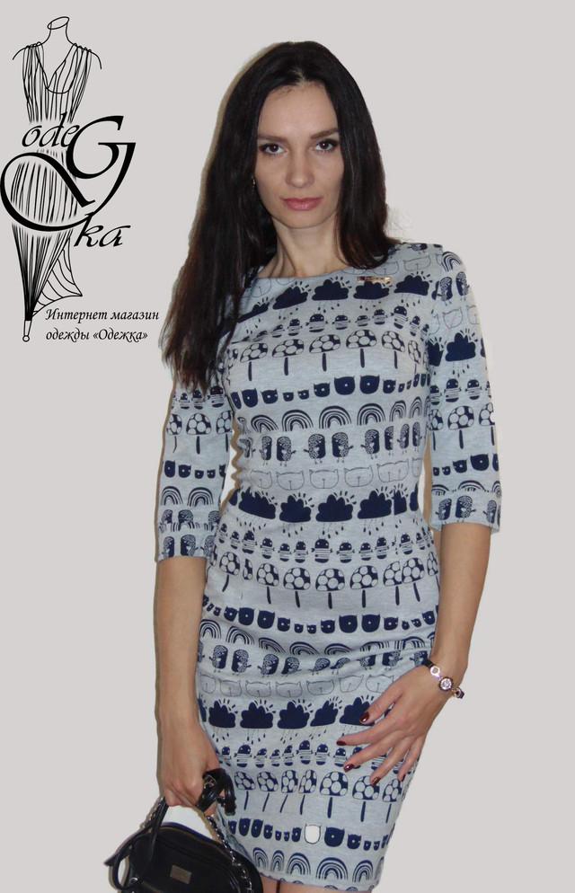 фото Короткого платья с рукавами 3/4 Мона PlMn66/2