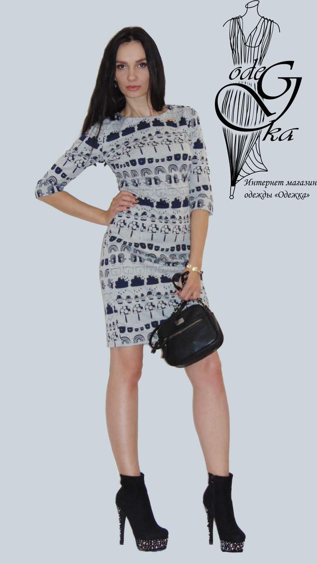 Фото-2 Короткого платья с рукавами 3/4 Мона PlMn66/2