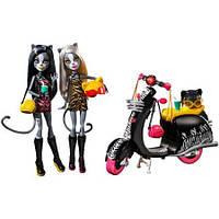 Большой игровой набор Monster High Werecats Sisters and Scooter