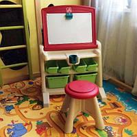 Детский стол мольберт парта Step2 Flip & Doodle Easel Desk with Stool США