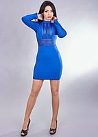 Стильное платье красивого кроя с полупрозрачными вставками