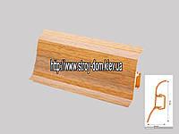 Плинтус 'Plint' AM60 - 05 с кабель-каналом глянцевый дуб рустикальный
