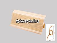 Плинтус 'Plint' AM60 - 06 с кабель-каналом глянцевый сосна