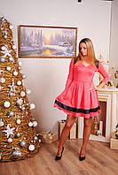 Женское платье с вставками коралл, фото 1