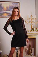 Женское платья прямое черное, фото 1