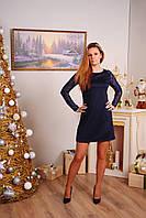 Женское платья прямое темно-синее, фото 1