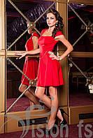 """Платье красное для вечеринки """"Кокетка"""""""