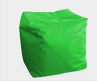 Мягкий пуф куб зелёный 40х40х40 см