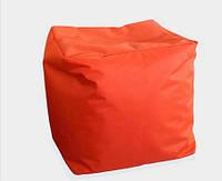 Мягкий пуф куб оранжевый 40х40х40 см