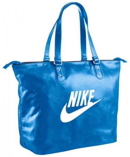 Женская городская сумка из искусственной кожи 30 л. NIKE BA4311-413 синий