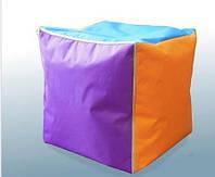Мягкий пуф куб разноцветный 40х40х40 см