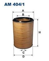 Воздушный фильтр RENAULT TRUCKS FILTRON AM 404/1